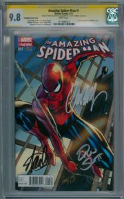 Amazing Spider-man #1 Campbell Variant CGC 9.8 Signature Series Signed Stan Lee Dan Slott J.Scott Campbell Marvel comic book